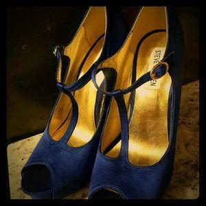 Steve Madden Royal Blue Peep Toe Heels
